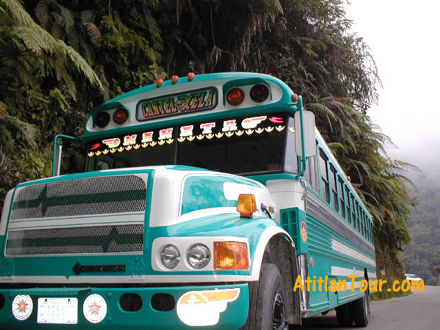 Chicken Bus Guatemala Camioneta